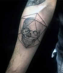 Forearm Skull - 50 small skull tattoos for mortality design ideas