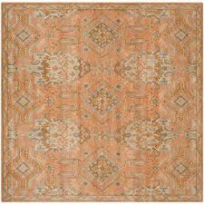 safavieh orange square 7 u0027 and larger area rugs rugs the