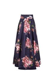 silk skirt silk printed couture skirt