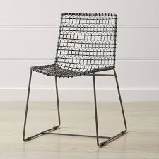 Metal Dining Chairs Tig Metal Dining Chair Reviews Crate And Barrel