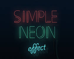 a stylish looking neon text effects 3 colors included promote