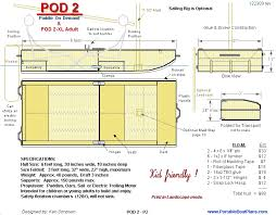 Free Wooden Boat Plans Pdf by Pod2 Free Plans Stable Easy To Build Let U0027s Go Crazy And Build