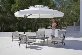 offset patio umbrella with base patio outdoor decoration