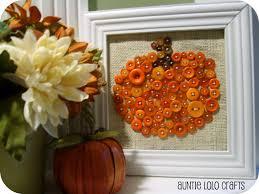auntie lolo crafts pumpkin button art halloween pinterest