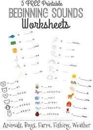 Worksheets For Kindergarten Printable Free Beginning Sounds Letter Worksheets For Early Learners