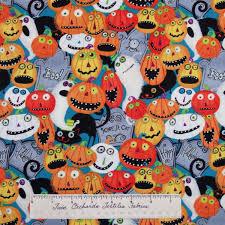 halloween fabric nightmare manor pumpkin tombstone wilmington