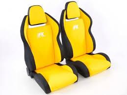 siege semi bacquet tuning shop siège baquet modèle race 5 1xgauche 1xdroite jaune