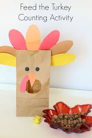 feed the turkey counting activity counting activities