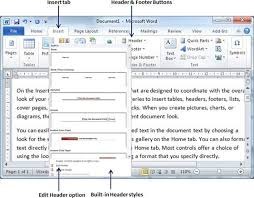 Creating A Resume On Word Header And Footer In Word 2010