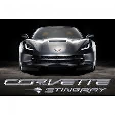 2014 corvette black corvette stingray front poster cyber gray
