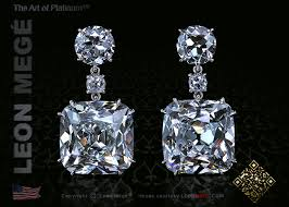 diamond drop earrings e6327 mege true antique cushion diamond drop earrings