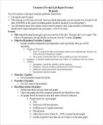 lab report template word formal lab report exle 10 laboratory report templates free