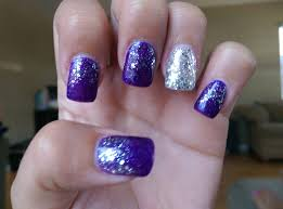38 purple with accent nail and glitter ombre 53 nails by