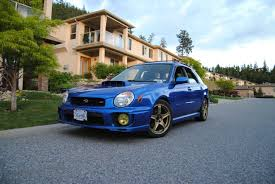 blue subaru hatchback anyone like a rally blue bugeye for wagon wednesday subaru