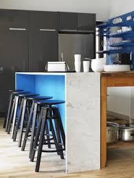 comptoir cuisine montreal cuisine moderne bleu comptoir de marbre par la firme montréal