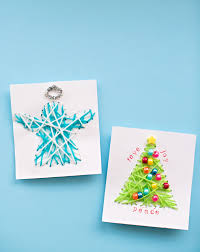 kid cards kid made diy string christmas cards