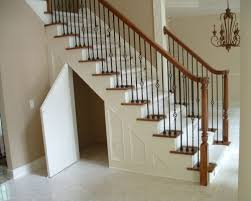 Contemporary Handrail Contemporary Staircase Design With White Shelves Under Stair And