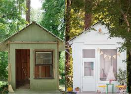 Backyard Play Houses by An Amazing Kids U0027 Playhouse Built From An Old Backyard Shed