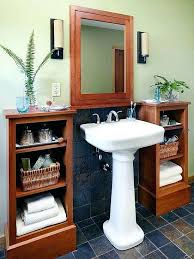 bathroom sink storage ideas bathroom pedestal cabinet bathroom pedestal sink storage cabinet