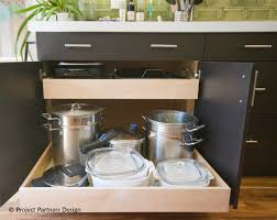 Kitchen Cabinets With Drawers That Roll Out by The Easiest Path To Dis Function Project Partners Design