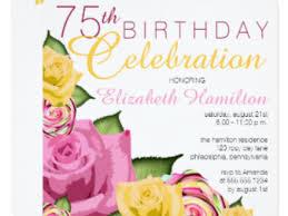 34 75th birthday invitation 16 75th birthday invitations unique