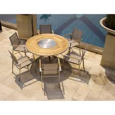 Round Table Patio Dining Sets - teak 6 seated dining teak patio furniture teak outdoor dining sets