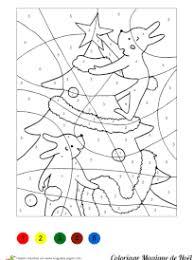Coloriage Magique Noël sur Hugolescargotcom