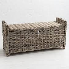 Wicker Storage Bench Maine Key Largo Rattan Storage Bench Furniture123