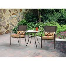 Outdoor Bistro Chair Cushions Square Mainstays Alexandra Square Outdoor Bistro Set Stripe
