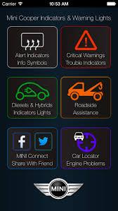 mini cooper warning lights meanings app for mini cooper warning lights and mini cooper problems apps