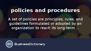 what are policies and procedures definition and meaning