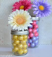 Easter Decorations Using Mason Jars by Diy Gumball Filled Mason Jar Flower Vase Mother U0027s Day Gift Idea