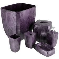 Lavender Bathroom Accessories by Purple Bathroom Set From Bedbathhome Com Soap Dish 4 97