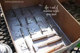 can i spray paint cabinet hinges updating rv cabinet hardware the new lighter