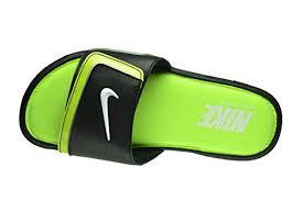 Men S Nike Comfort Slide 2 Nike Comfort Slide 2 Men U0027s Slides Black White Volt Metallic Silver