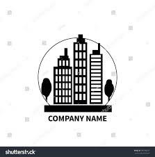 building logo sign design flat company stock vector 397946257