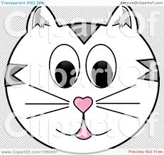 royalty free vector clip art illustration of a white cat face by