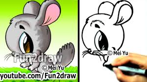 how to draw easy things how to draw a chinchilla draw animals
