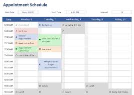 Excel Template Schedule Appointment Schedule Template For Excel