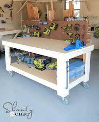 elegant garage workbench designs home decor wood shop work table