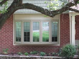 bay window decorations with calm brown 5 windows bay style outdoor