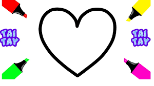 heart shape coloring pages how to draw hearts for baby drawings
