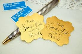 save the date stickers gold printed save the date seals custom printed wedding