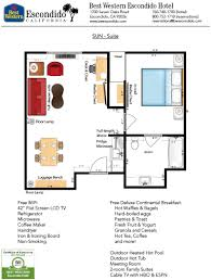 guestroom floorplans of best western escondido hotel