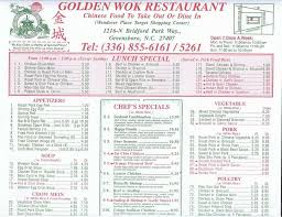 Golden Wok China Buffet by Menu At Golden Wok 1216 Bridford Pkwy Restaurant Prices