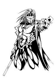 gambit inked by micha81 on deviantart