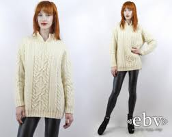 cream sweater etsy