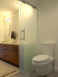 Frosted Glass For Bathroom Toilet Room Frosted Glass Houzz