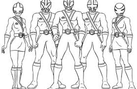 power rangers printables colorings