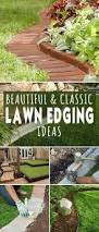 ten interesting garden bed edging ideas best lawn care images on
